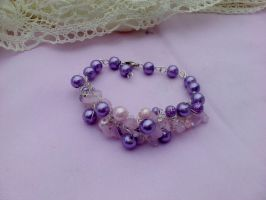 rose quartz and amethyst bracelet by Mirtus63