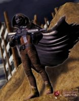 Dystopian Tuesdays Nomad in the Wastelands by MADMANMIKE