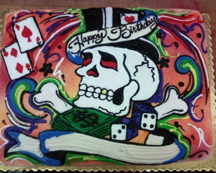 ed hardy cake by sk8ergirl411
