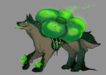Halloween special mushroom puppy auction closed by ElkaArt