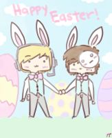 Happy Easter! w/ Pewdiepie and Cry by pyohappy