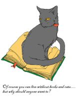 Cats and Books by Ciridian