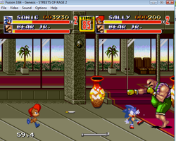 Sonic And Sally And The Streets Of Rage: The Game by ClassicSonicSatAm