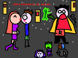 Teen Titans Go to Japan by COCOAJB