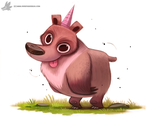 Day 849. Bearicorn by Cryptid-Creations