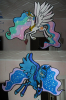 Celestia and Luna Hanging Around by Sandra626