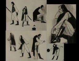Quick Pose sketches from Costume WKSHP by FUNKYMONKEY1945