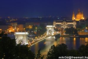 Hungary, Budapest, Lanc-hid by miki3d