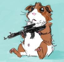 Guinea Pig with a Gun by KGBigelow