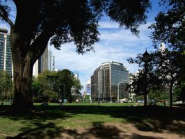 Park and buildings. BAires by mirator