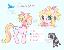 Featherlight Ref-Sheet by CandyCollie