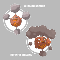 Aurinan Koffing and Weezing by Marix20