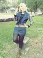 Android 18 Cosplay by Nao-Dignity