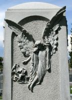 Mount Olivet Cemetery Angel 157 by Falln-Stock