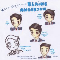 Art Style - Blaine Anderson by kawaiisweetie-chan