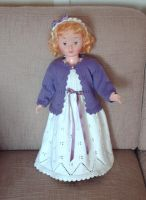 White dress, violet cardigan by ToveAnita