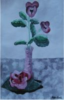 Watercolor Flower Still Life by Nephilimist