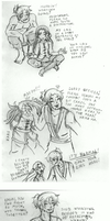 ATLA OC: Feb 14 Sketches 1 by elfgrove