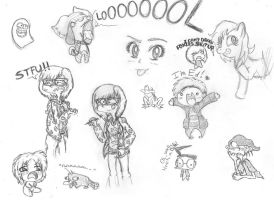 Return of...The........Doodles... :I by Captain-Dorkalicious