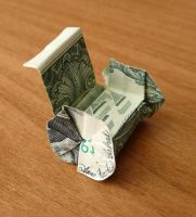Dollar Bill Origami Wheelchair by craigfoldsfives