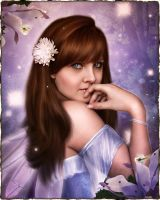 Forest Fairy Portrait by brandrificus