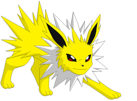 Pokemon Jolteon by redeyeswolfman