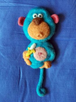 Blue Monkey by Woolydesigns