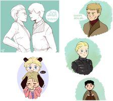 Jaime x Brienne tumblr dump by BlackNina