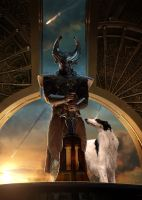 Heimdall and His Daemon by LJ-Todd