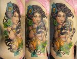 Tattoo - Girl and ivy by Xenija88