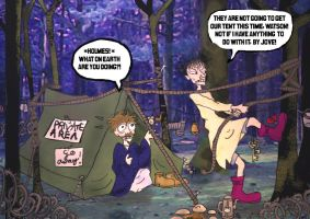 Holmes Watson and the Tent by elina-elsu
