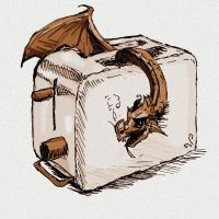 Dragon of the toaster by elicenia