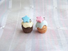 Little twin star cupcakes by CuteTanpopo