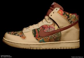 Nike Dunks ft LRG - funky pat by frizease