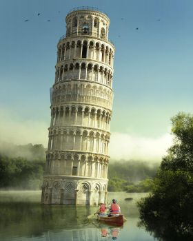 Boating to Pisa by Pac0daTac0