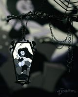 Dead Will Dance Art Pendant by thezombified