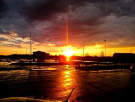 Stormy Sunset by cthacker