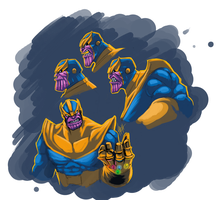 sketching Thanos by LaRhsReBirTh