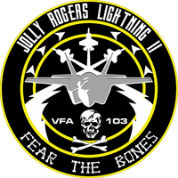 VFA-103 Jolly Rogers F-35C Flight Insignia by viperaviator