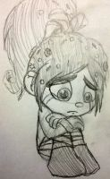 Crying Vanellope by Mimi-the-Skitty