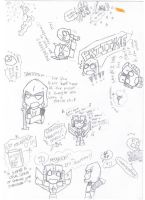 Megs and Screamer Sketch Dump by RadJinja