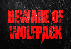 Beware of Wolfpack Sign by MrAngryDog