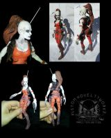 Star Wars Six Inch Aurra Sing Custom Figure by ayelid