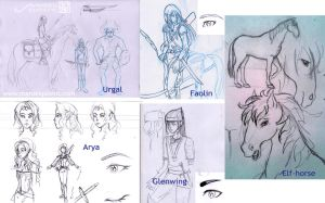 Elves from Eragon - Comic preproduction by MaruExposito