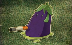 The eggplant  dont smoking by spundman