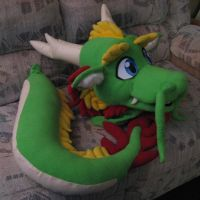 Asian Dragon fursuit prog 4 by DragonCid