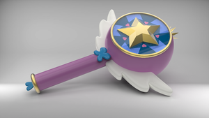 Star Butterfly's Royal Magic Wand in 3D. by Therises