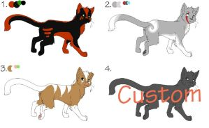 Cat Adoptables Batch 1 { 3 Open } by Pepper-Ink