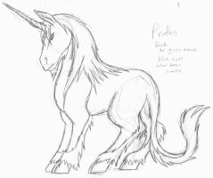 Prathis: unicorn design by dragonsong12