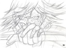 The Battle Rage: Pencil and Paper by ApocryphionXII